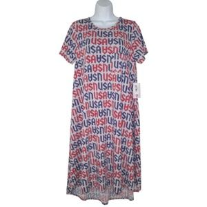 NWT Lularoe M Carly Dress USA Patriotic Americana